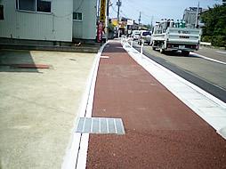 バリアフリーまちづくり歩道工事