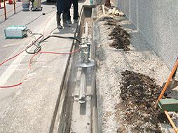 写真:知多市歩道設置工事
