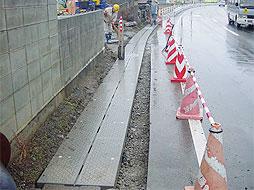 写真:羽前長崎停車場線外側溝整備