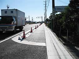 写真:】平成18年度津地区歩道舗装工事